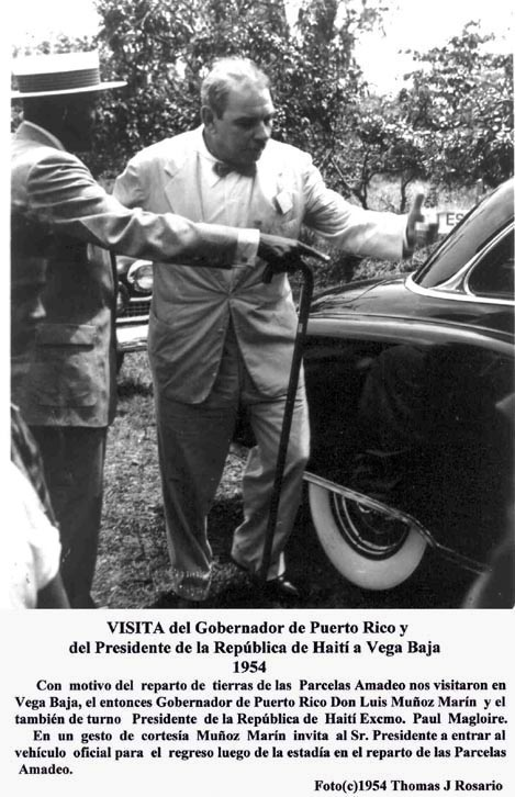 035-0 Muñoz Marín y Pres Haiti Paul Magloire 1954 Pug Par Amadeo