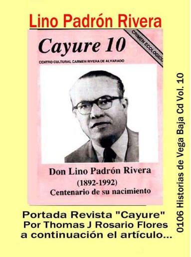 Lino Padrón Rivera 0106 Portada Revista Cayure En el Centenario de su Nacimiento