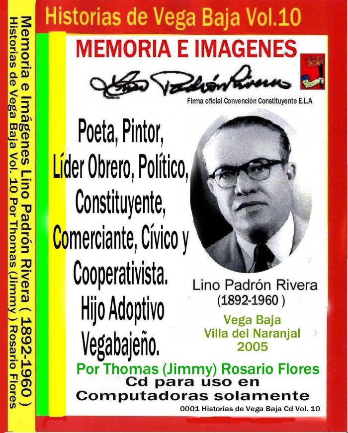 Lino Padrón Rivera 0001 Cd Caratula Black Case Arte Gráfico por Jimmy
