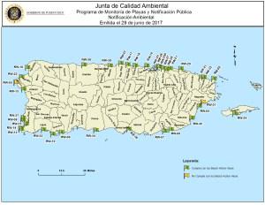 Mapa Monitoría de Playas al 28 de Junio de 2017 Full
