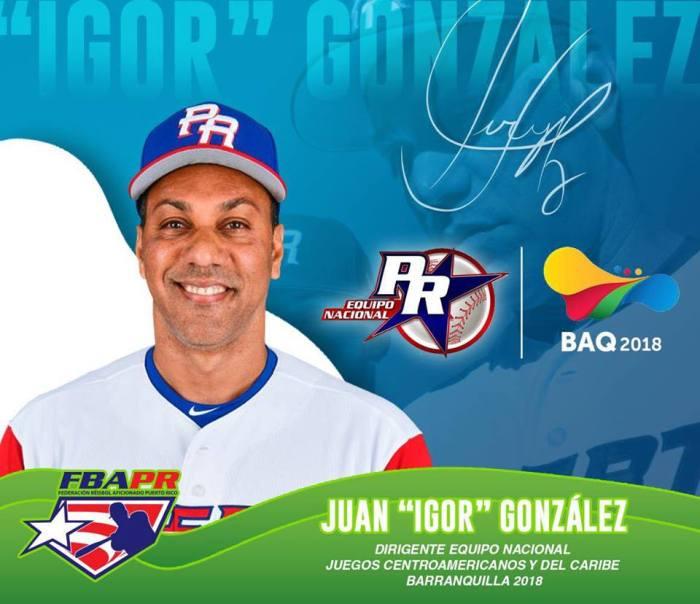JUAN IGOR GONZALEZ DIRIGENTE PR CENTROAMERIANOS 2018