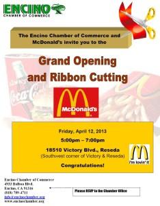 McDonald's Grand Opening 4-12-13