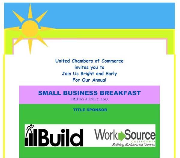 Small Business Breakfast flyer pg 1