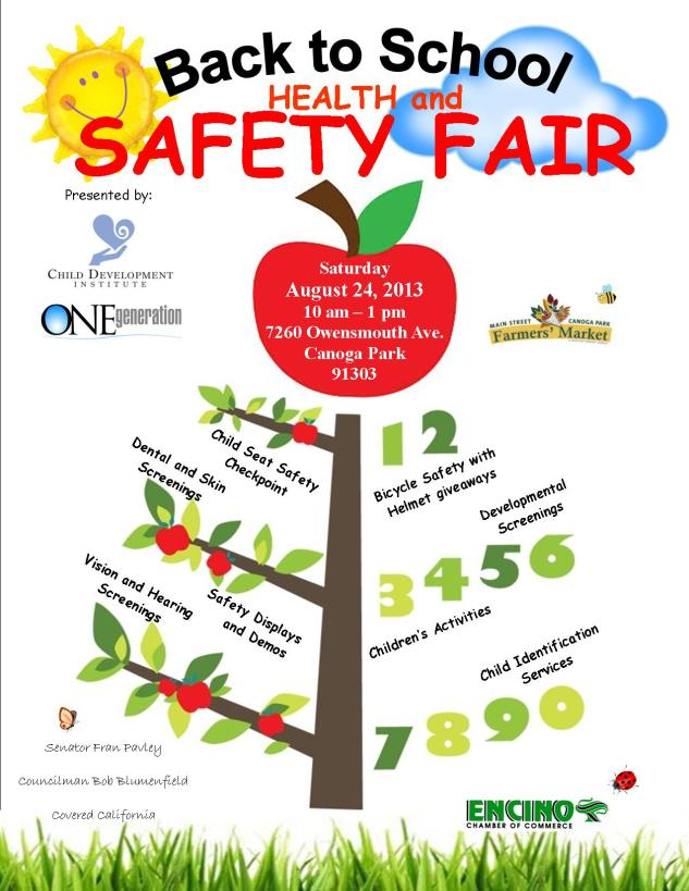 Back to School Safety Fair flyer