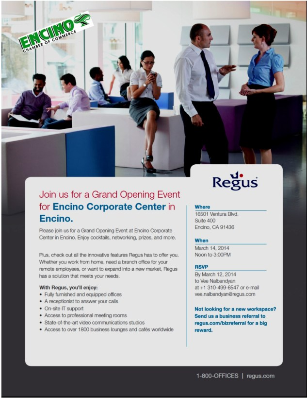 Regus Grand Opening 3-14-14