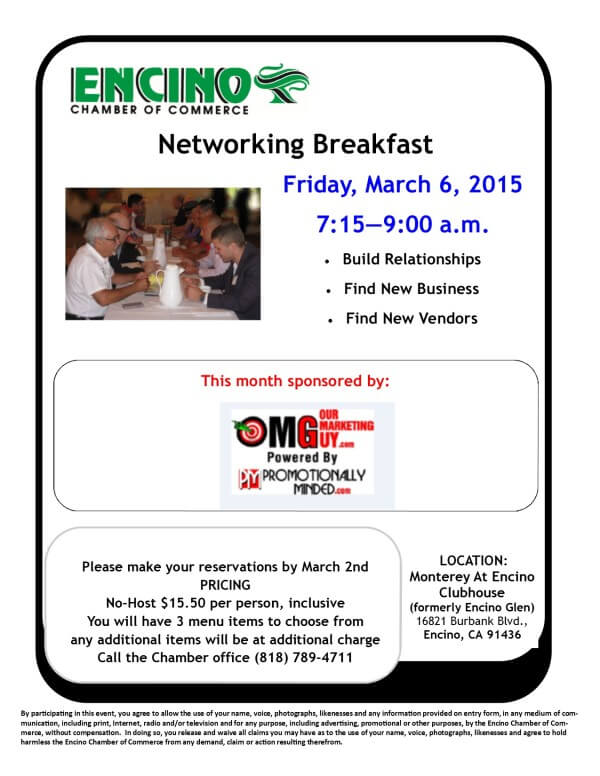 Networking Breakfast - March 2015