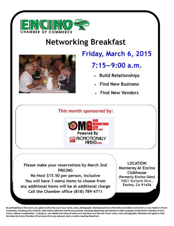 Networking Breakfast - March 2015