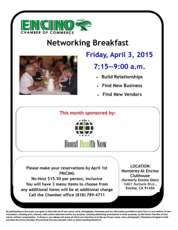 Networking Breakfast - April 2015