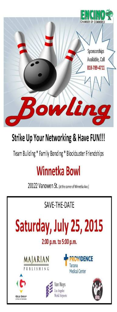 Bowling Save-The-Date flier