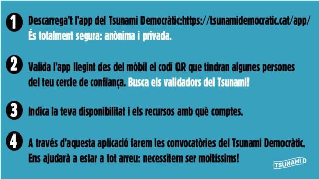 Tsunami Democratic en Telegram