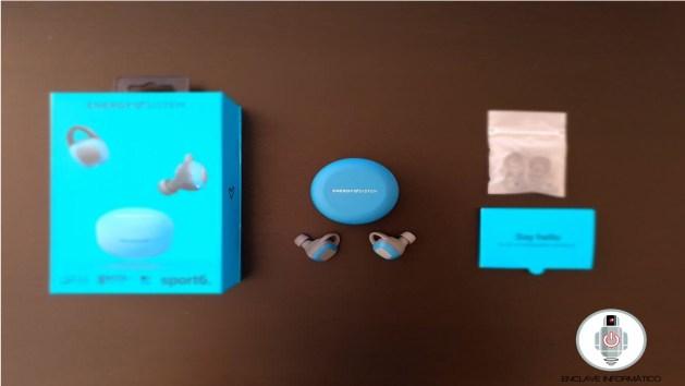 Contenido de la caja de los auriculares Energy Sistem Sport 6