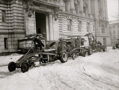 Ford Motor Co. Snow Plows, ca. 1910 - 1925, possibly Washington, D.C., via Library of Congress