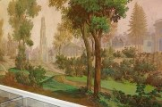 The walls inside are painted with views of the late 18th. c. palace grounds