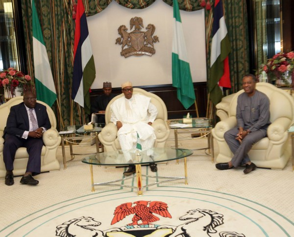 Image result for Buhari and Nigerian foreign minister photos