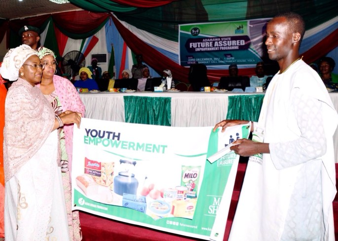 Image result for Aisha Buhari empowers women, youths in Adamawa
