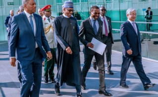 Image result for Buhari demands ICC support against illicit financial flows