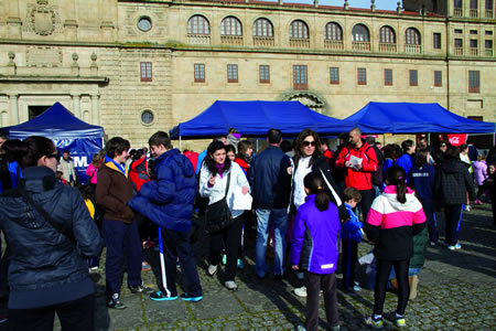 A Carreira Popular de Monforte inicia o Circuíto Ribeira Sacra, e congrega numeroso público. Arquivo EC.