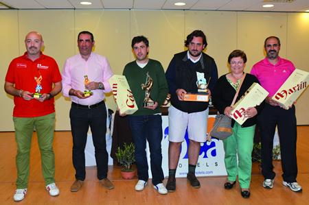 Imaxe dos gañadores do Torneo Semana Santa 2014, celebrado na fin de semana de Pascua no OCA Augas Santas de Pantón. (Foto cedida).