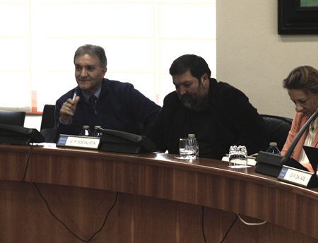 O deputado socialista Vicente Docasar durante a súa comparecencia na Comisión de Educación do Parlamento de Galicia, o pasado 30 de maio. (Foto cedida).