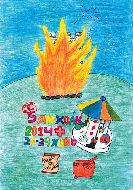 Cartel das festas do San Xoán de Sarria de 2014.