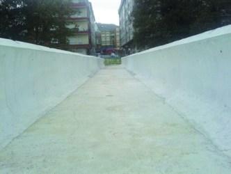 Vista frontal da zona de paso da nova ponte do Toleiro. (Foto cedida: Plataforma Sarriana polo Río).