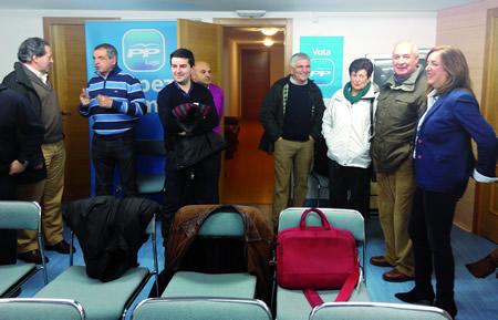 O PP de Monforte celebrou a finais de xaneiro unha xornada de portas abertas na súa sede da rúa Hortas.(Foto cedida).