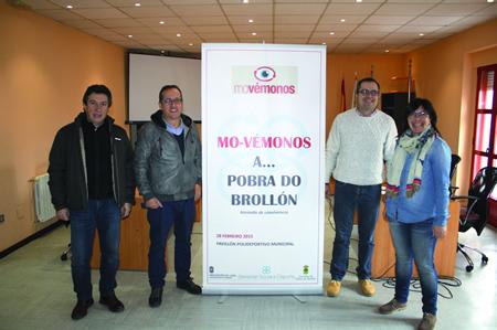 """Presentación da xornada """"Mo-vémonos á...Pobra do Brollón"""", coa participación dos responsables provinciais e locais desta iniciativa. GPVDL."""