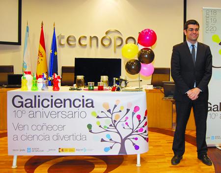 O director da Axencia Galega de Innovación, Manuel Varela, na presentación dos Espectáculos de Ciencia itinerantes cos que Tecnópole celebra o 10º aniversario de Galiciencia, a maior feira científica de Galicia. GPXG.