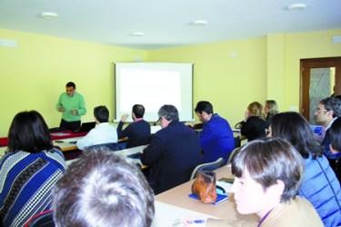 A xornada sobre proxectos europeos organizada polo Eixo Atlántico e a Deputación celebrouse no complexo de Augas Mestas o 21 de maio.  (Foto cedida: Eixo Atlántico).