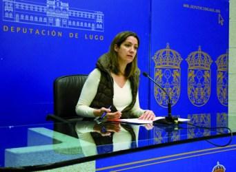 Lara Méndez, vicepresidenta segunda da Deputación, durante a rolda de prensa. GPDL.