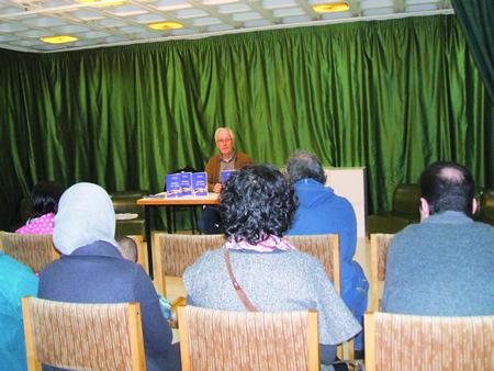 A presentación do libro tivo lugar na Casa da Xuventude de Chantada. (Foto cedida).