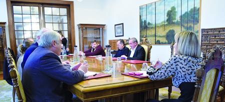 Reunión da Xunta de Goberno da Deputación de Lugo a comezos de febreiro. GPDL.