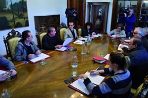 Imaxe da Xunta de Goberno da Deputación de Lugo na que se aprobou a realización do estudo sobre xestión de residuos. GPDL.