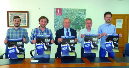 Imaxe da presentación da nova edición do Depor Campus no Concello de Monforte. GPCM.