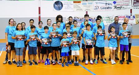 Foto de familia dos asistentes ao Campus de Baloncesto Cidade de Monforte. GPCM.