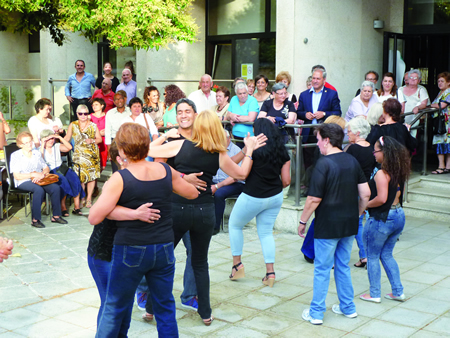 Foto de arquivo do acto de clausura das actividades de Activa Monforte en agosto, coa presenza do alcalde de Monforte, José Tomé. Arquivo EC.