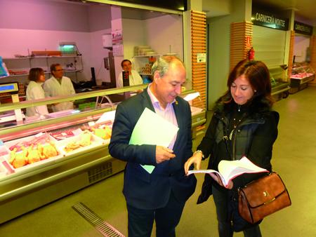 O alcalde de Monforte anunciou as próximas reformas na Praza de Abastos o pasado 22 de outubro. GPCM
