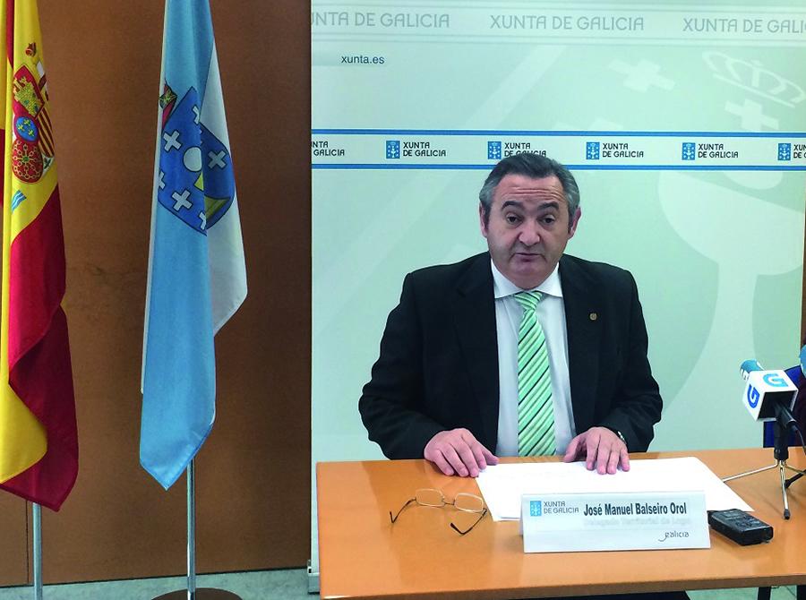 O delegado territorial da Xunta en Lugo, José Manuel Balseiro, explicou o detalle dos pagos da PAC na provincia. GPDLT