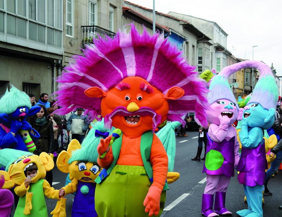 Desfile do Martes de Entroido en Monforte de Lemos. (Fotos: EC).