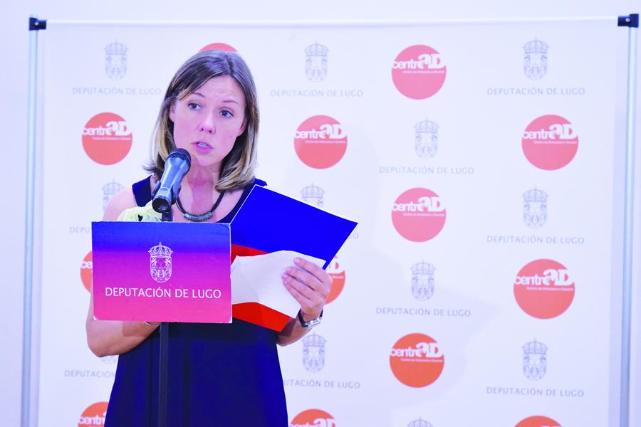 Foto de arquivo da deputada de Cultura, Pilar García Porto, na presentación da programación cultural do organismo provincial. GPDL.
