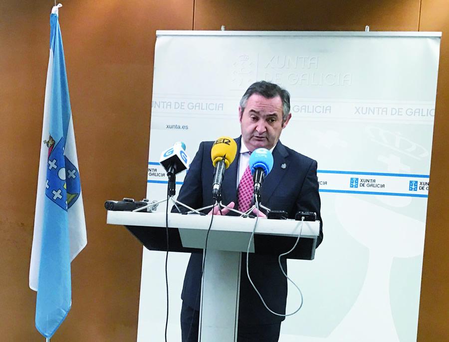 O delegado territorial da Xunta en Lugo, José Manuel Balseiro, en rolda de prensa. GPDTL