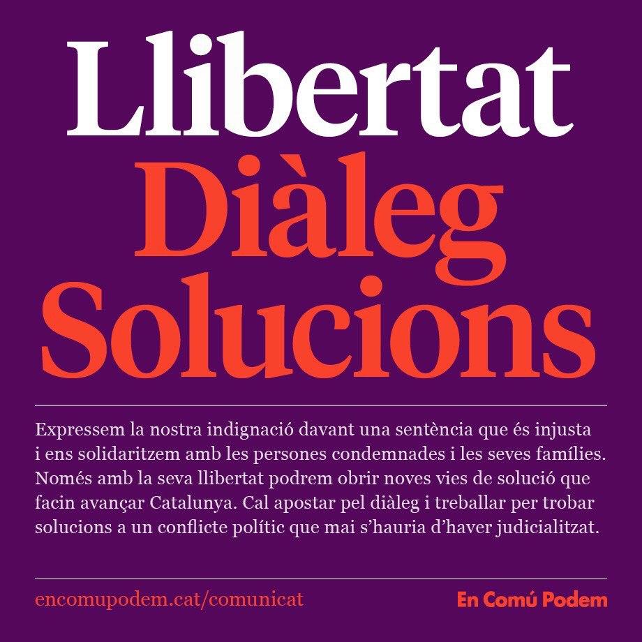 Llibertat, diàleg, solucions