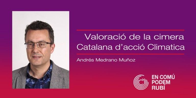 Valoració de la Cimera Catalana d'acció Climàtica