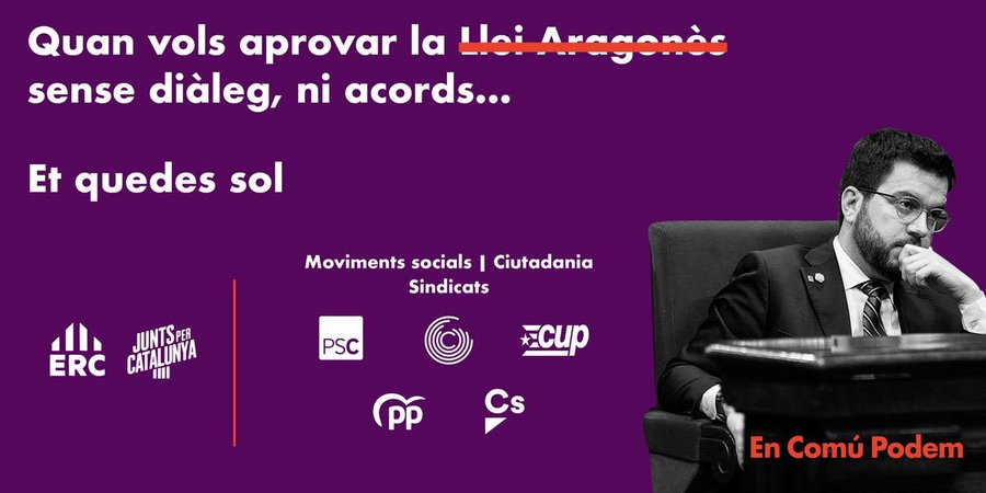 El Parlament tomba la llei Aragonès