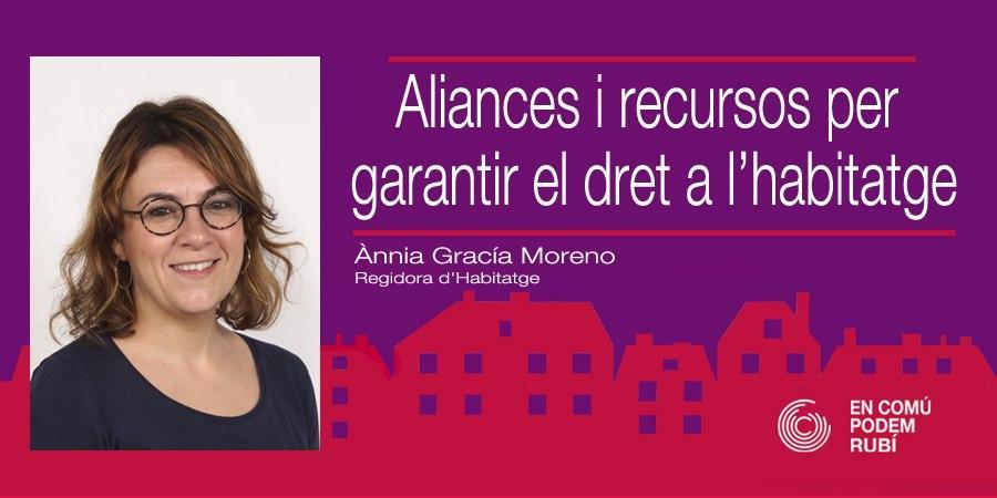 Aliances i recursos per garantir el dret a l'habitatge