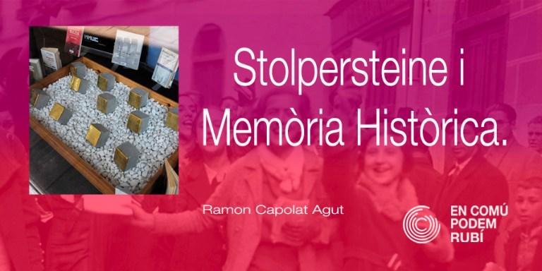 Stolpersteine i Memòria Històrica