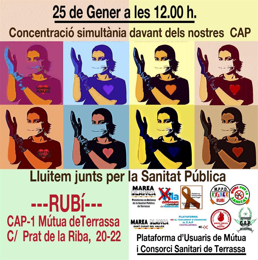 Pensionistes i Rubí Sanitat es concentraran dilluns davant el CAP Mútua