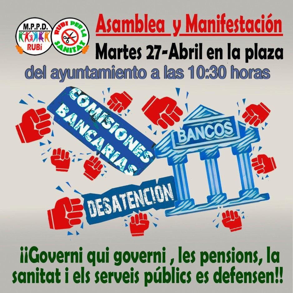 Manifestació contra els abusos de les entitats bancàries
