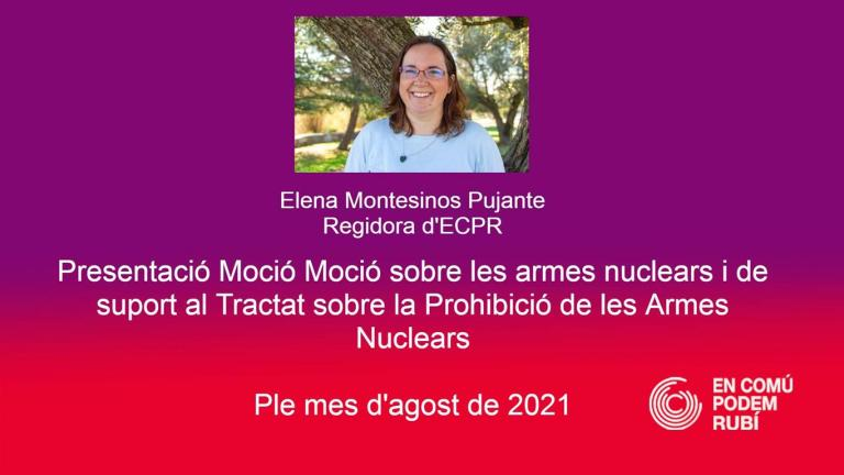 Moció sobre les armes nuclears i de suport al Tractat sobre la Prohibició de les Armes Nuclears