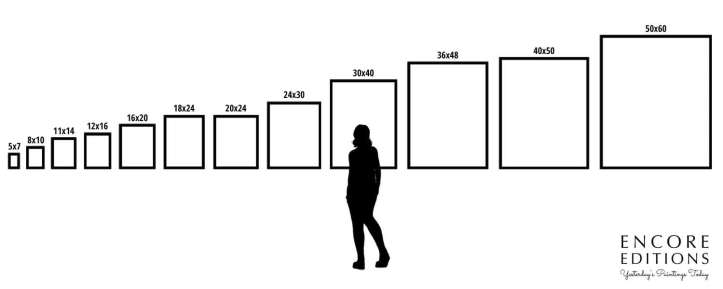 Standard Art & Frame Size Diagram